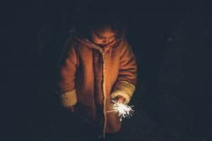 Little girl looks up at the stars - Sacred Reflections   A Blessed Call To Love